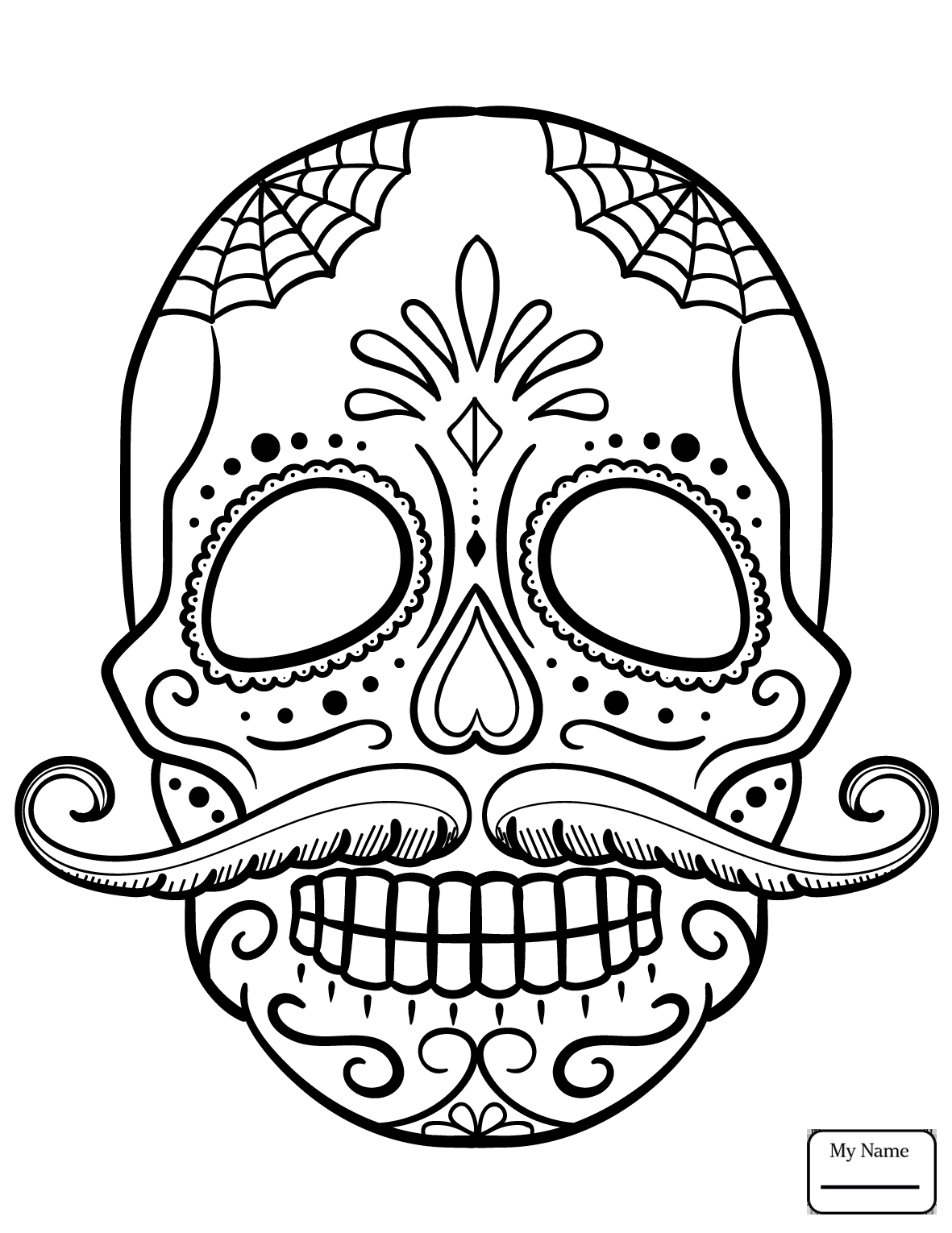 Coloring Pages ~ Skull Coloring Pages Free Printable Sugar Adult 54 - Free Printable Sugar Skull Coloring Pages