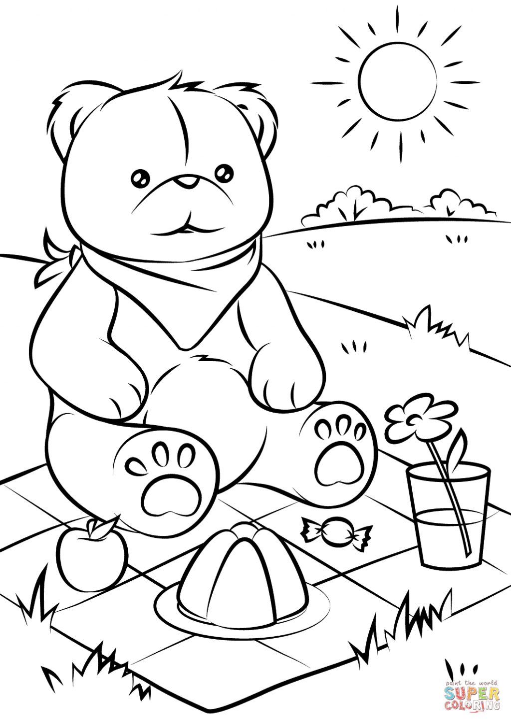 Coloring Pages ~ Teddy Bear Coloring Sheet Adult Free Printable - Teddy Bear Coloring Pages Free Printable