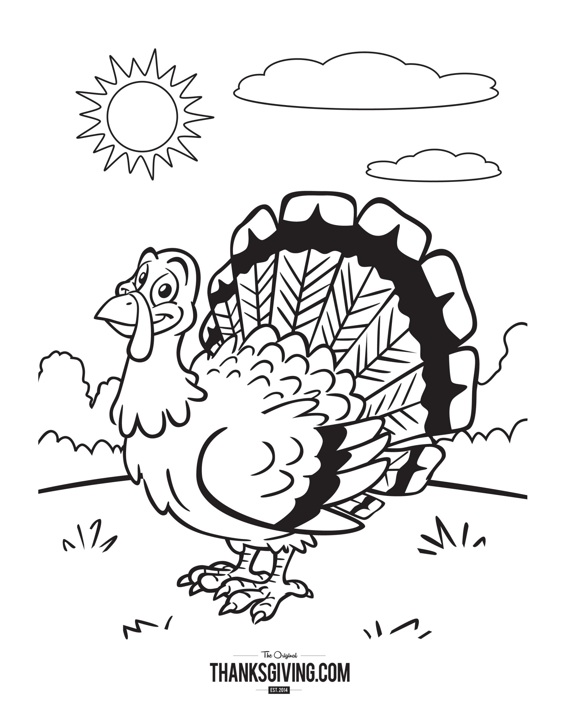 Coloring Pages : Thanksgivinging Book Pages For Kids Sunny Turkey - Free Printable Thanksgiving Books