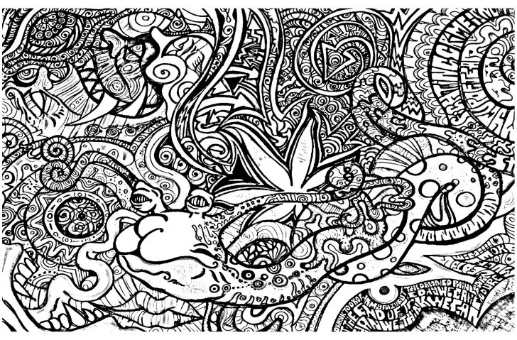 Free Printable Trippy Coloring Pages