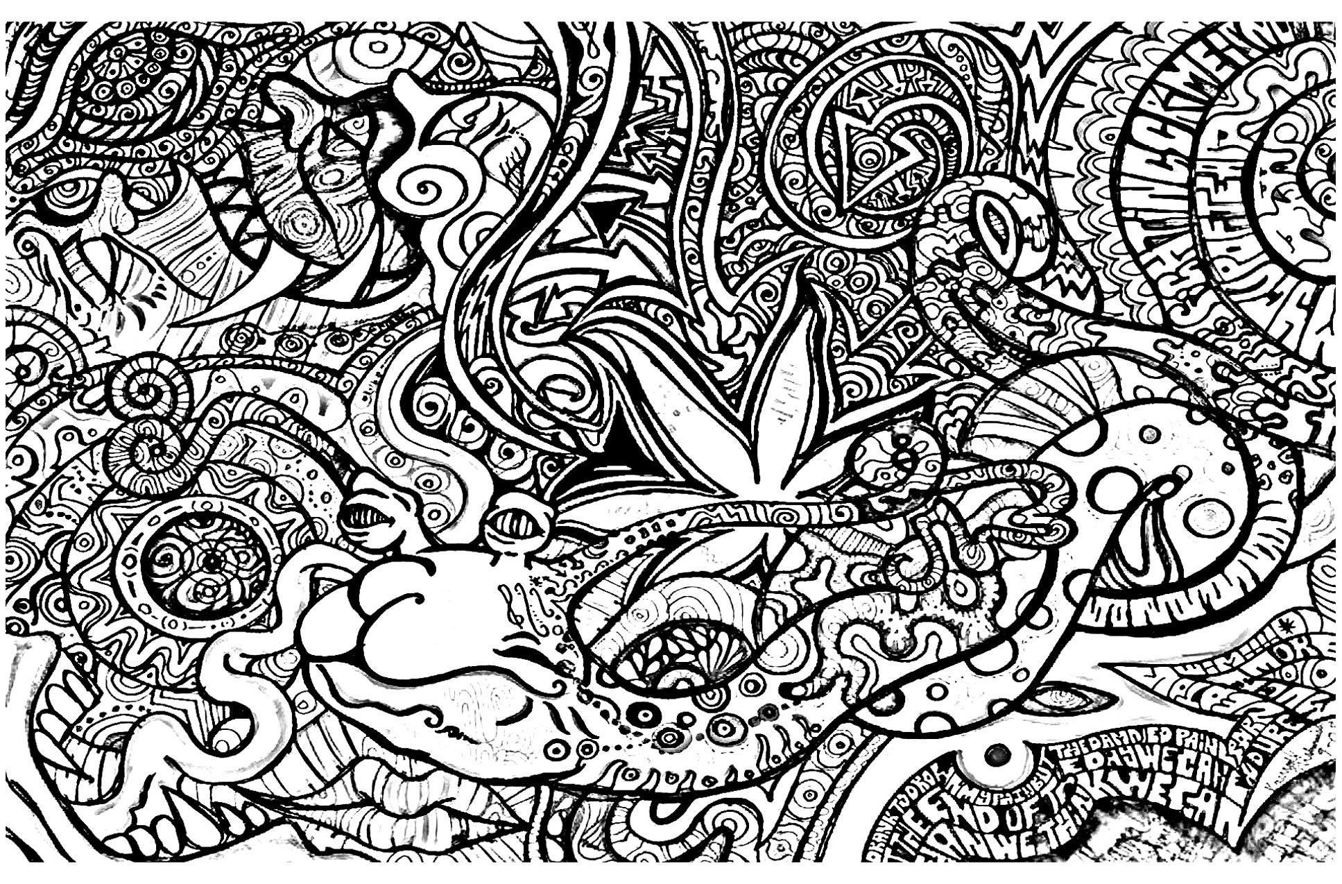 Coloring Pages : Trippy Coloring Pages Ruva Adult Online For Adults - Free Printable Trippy Coloring Pages