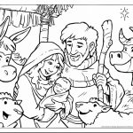 Coloring Picture Of Baby Jesus Baby In A Manger Coloring Pages   Free Printable Christmas Baby Jesus Coloring Pages