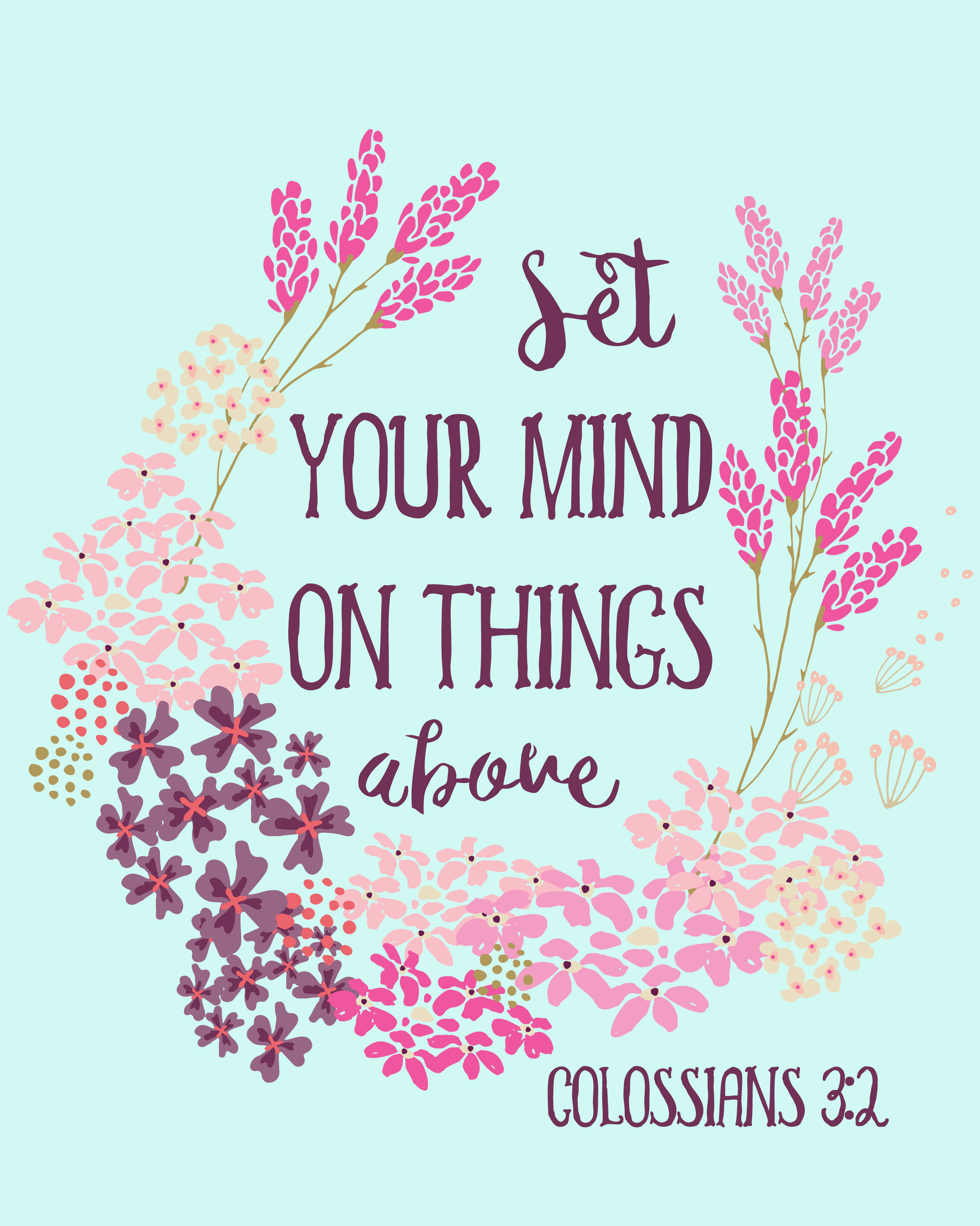 Colossians 3:2 - Bible Verse Free Printable -Rays Of Bliss - Free Printable Bible Verses
