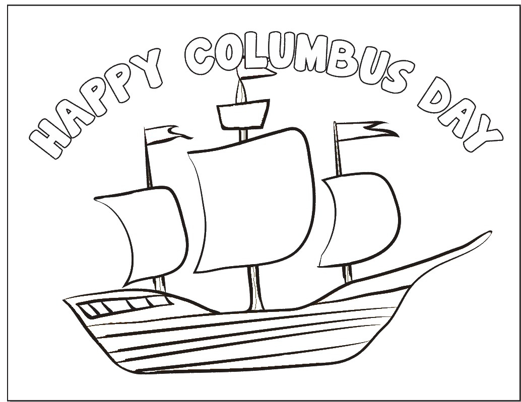 Columbus Day Coloring Page - Free Printable Christopher Columbus Coloring Pages