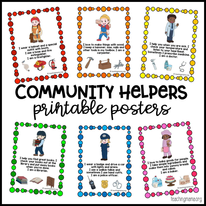 Community Helpers Printable Posters - Teaching Mama - Free Printable Posters For Teachers