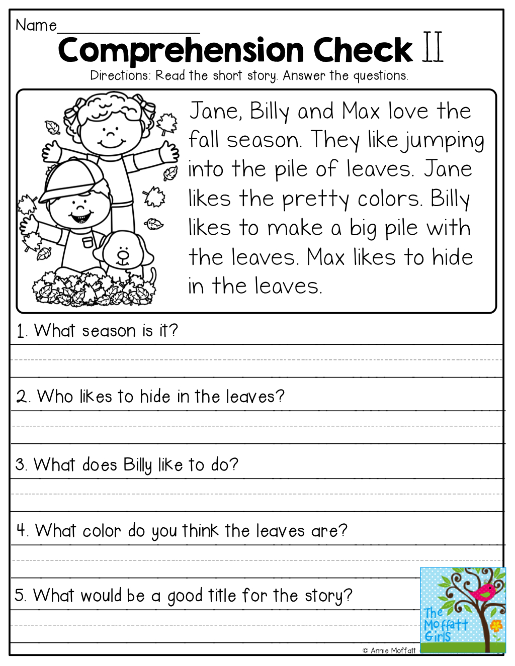 Comprehension Checks And So Many More Useful Printables! | Test Of - Free Printable Short Stories For 4Th Graders