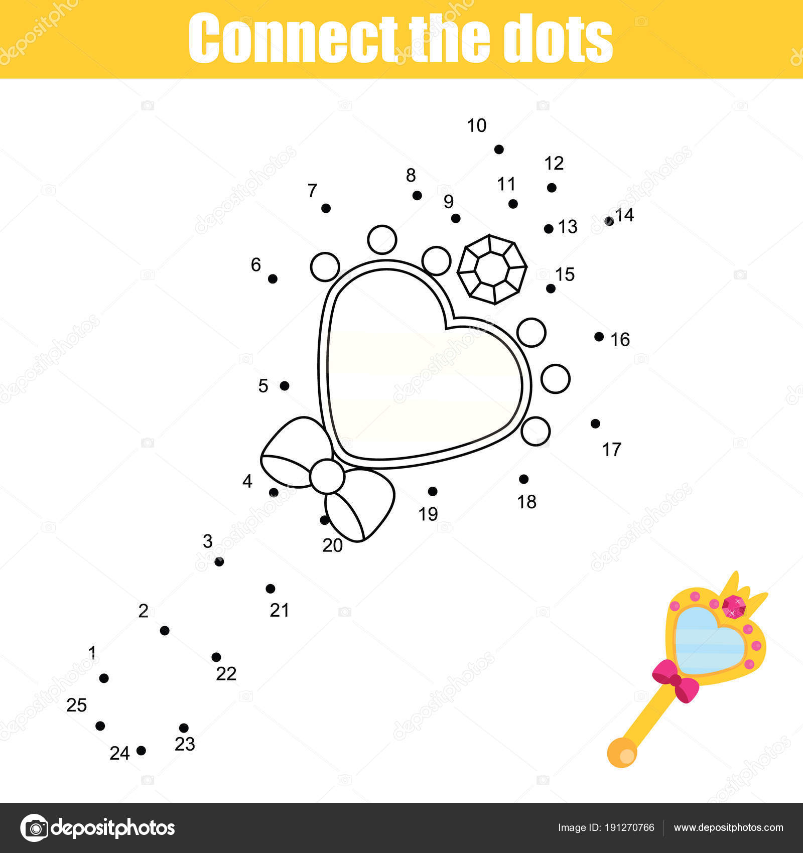 Connect Dots Children Educational Drawing Game Dot Dot Numbers Game - Free Printable Mirrored Numbers