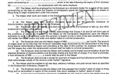 Free Printable Employment Contracts