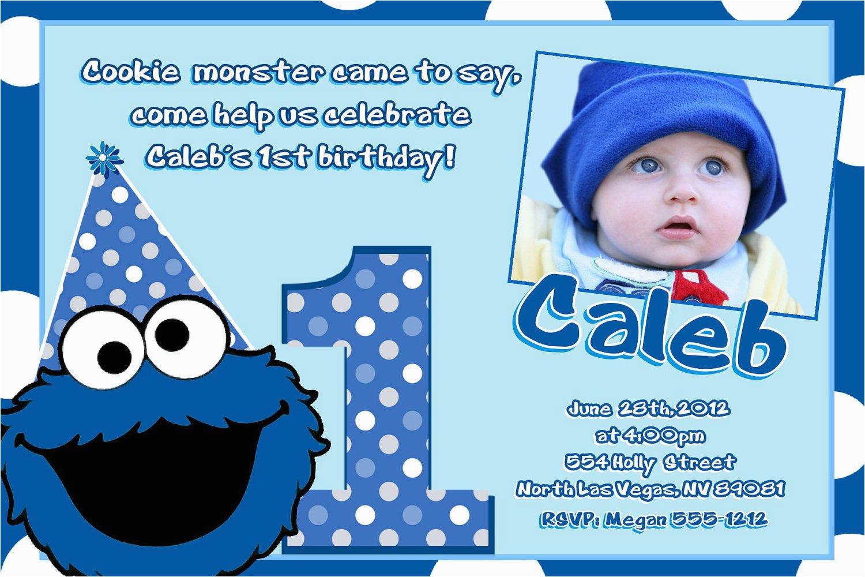 Cookie Monster Birthday Invites | Birthdaybuzz - Free Printable Cookie Monster Birthday Invitations