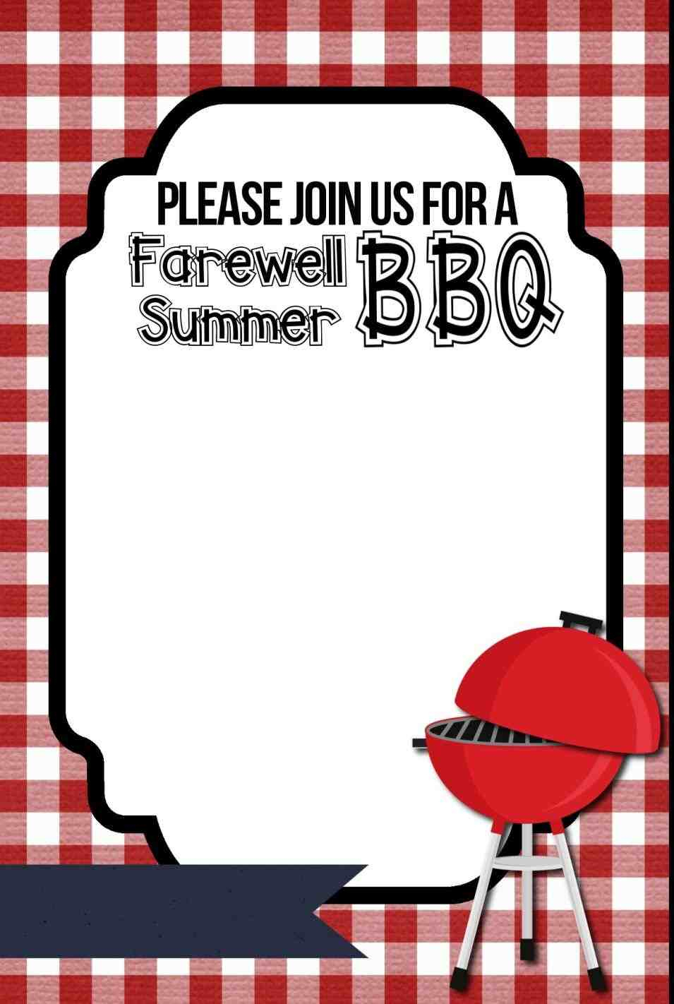 Cookout Template Free Printable Cookout Invitations Invitation - Free Printable Cookout Invitations