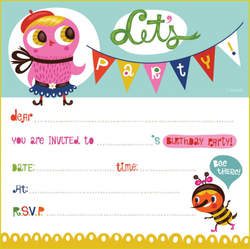 Cool Free Birthday Invitation To Design Free Printable Birthday - Free Printable Birthday Invitations For Kids