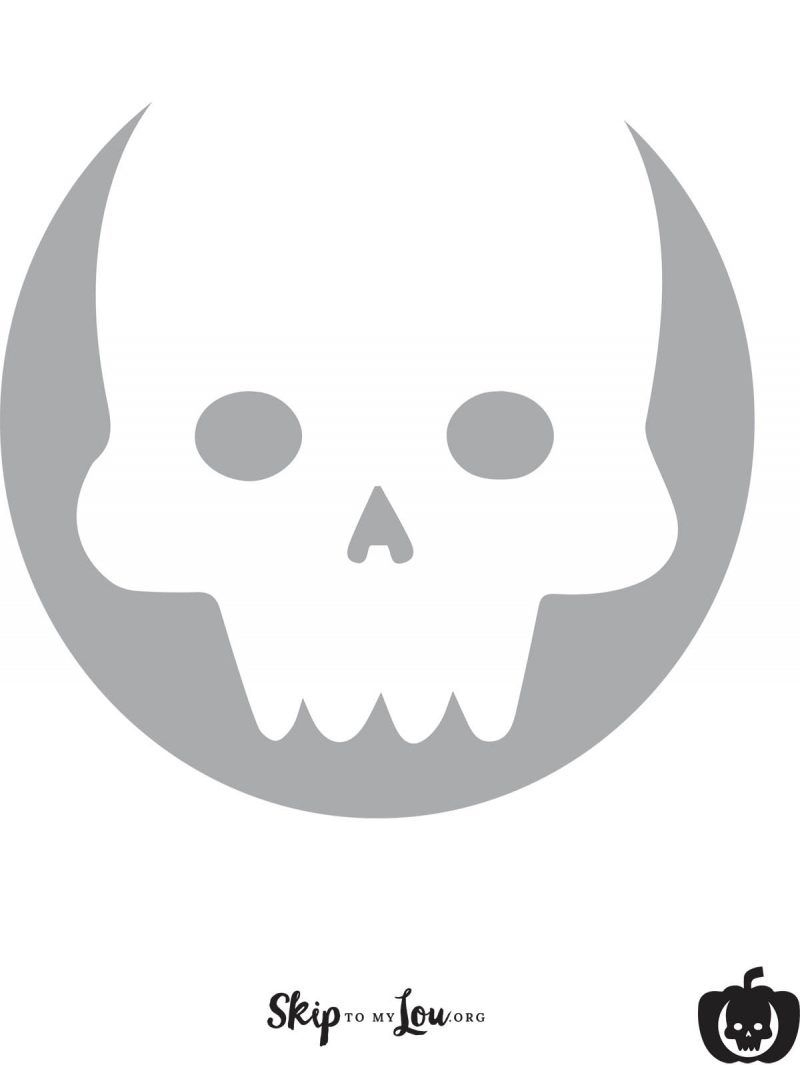 graphic regarding Printable Skull Stencil known as Interesting Free of charge Printable Pumpkin Carving Stencils Halloween
