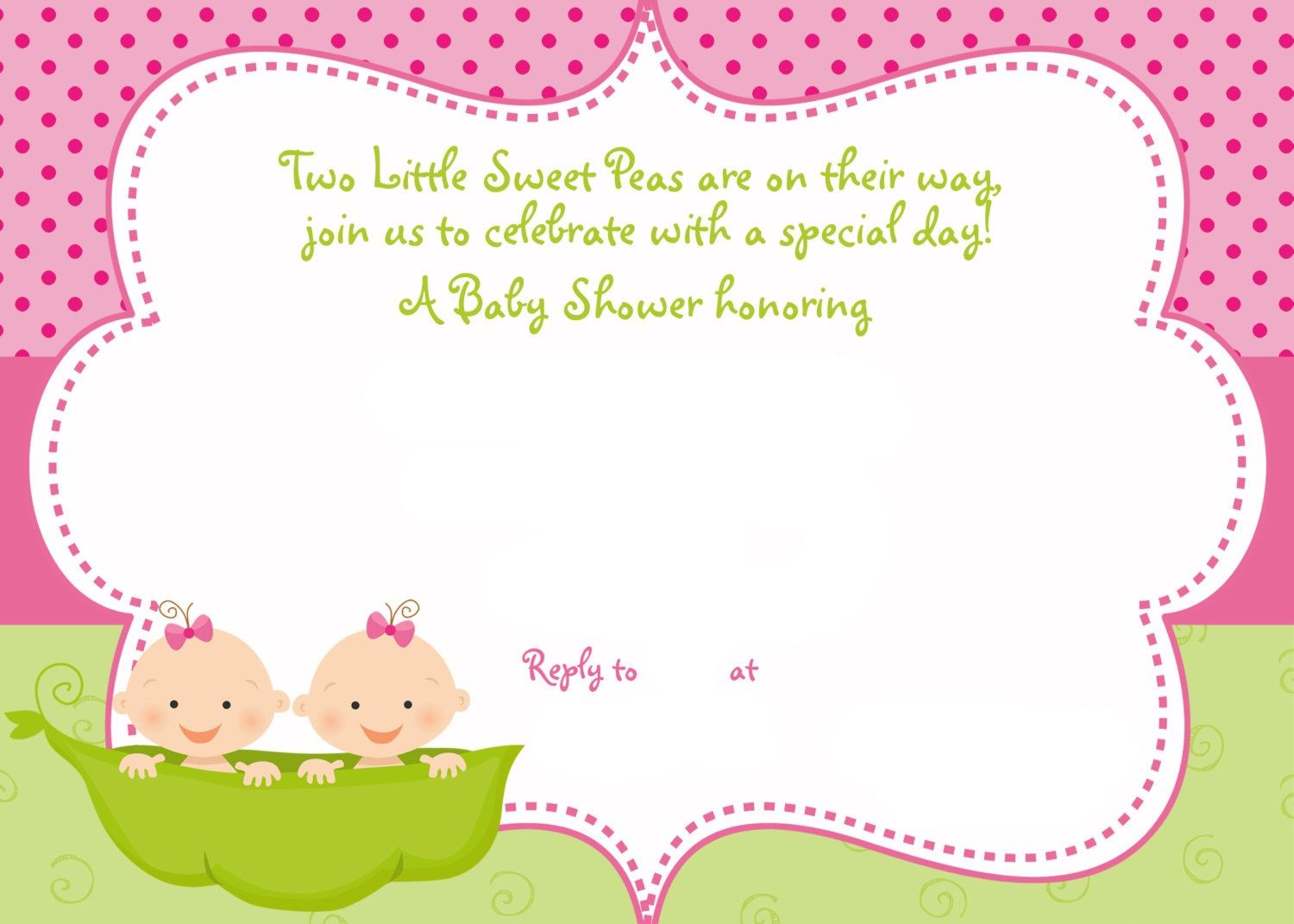Cool Free Printable Twins Baby Shower Invitation Ideas   Free Baby - Free Printable Twin Baby Shower Invitations