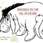 Coolest Winnie The Pooh Baby Shower Game Ideas   Pin The Tail On The Donkey Printable Free