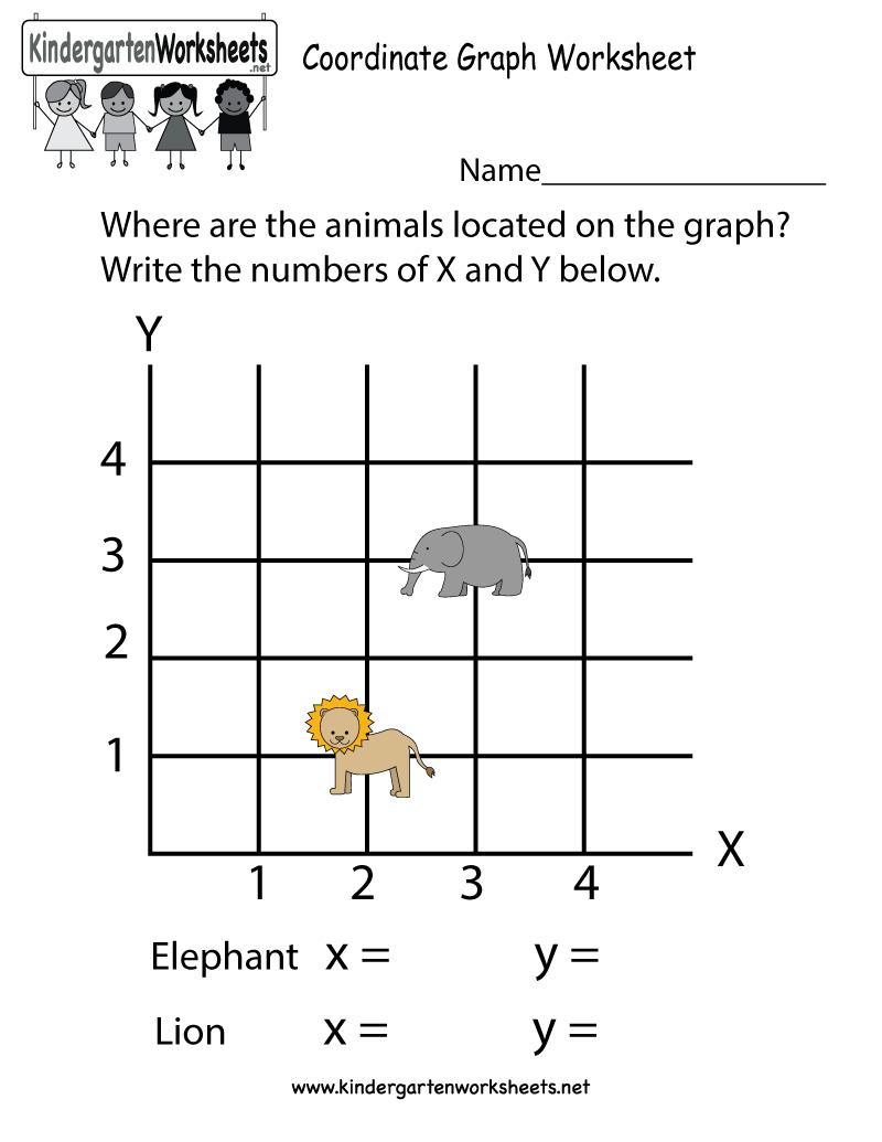 Coordinate Graph Worksheet - Free Kindergarten Math Worksheet For Kids - Free Printable Coordinate Graphing Worksheets