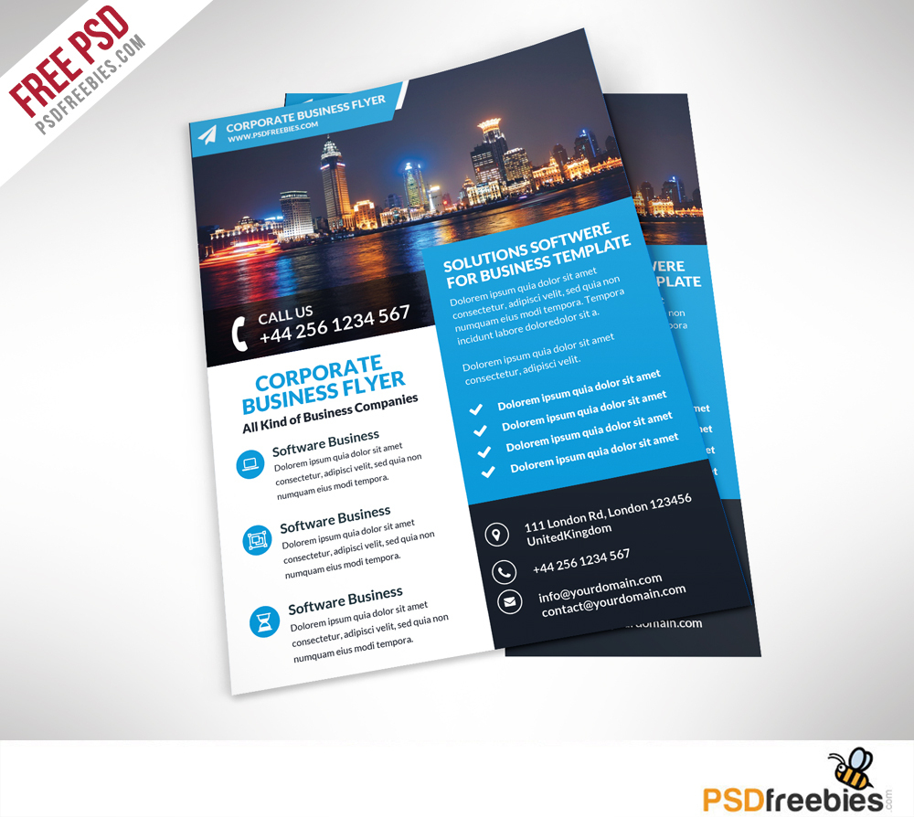 Corporate Business Flyer Free Psd Template | Psdfreebies - Business Flyer Templates Free Printable