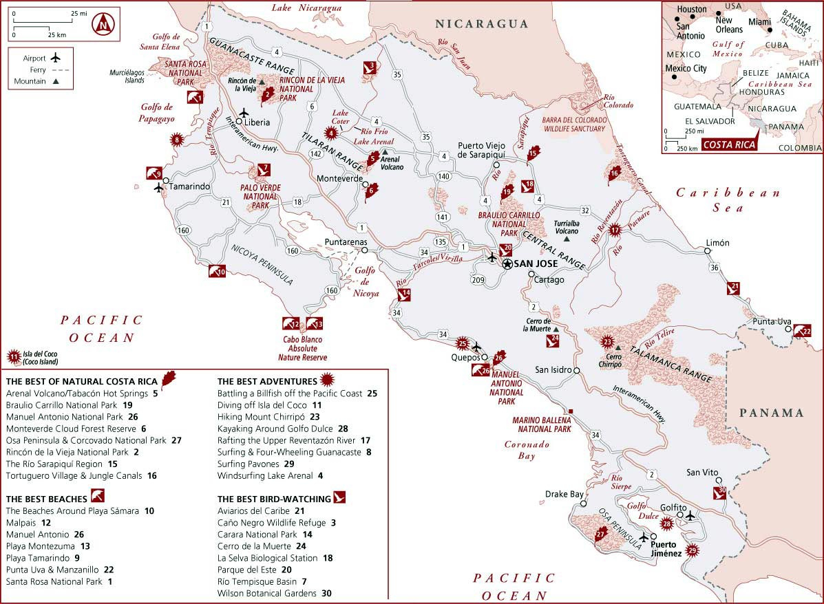 Costa Rica Maps | Printable Maps Of Costa Rica For Download - Free Printable Map Of Costa Rica