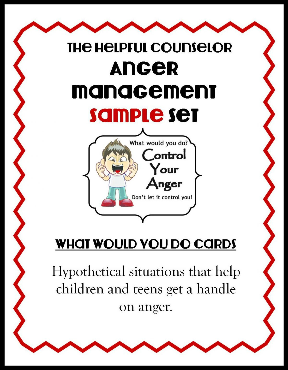Counseling Activities Archives • Page 3 Of 3 • - Free Printable Anger Management Activities