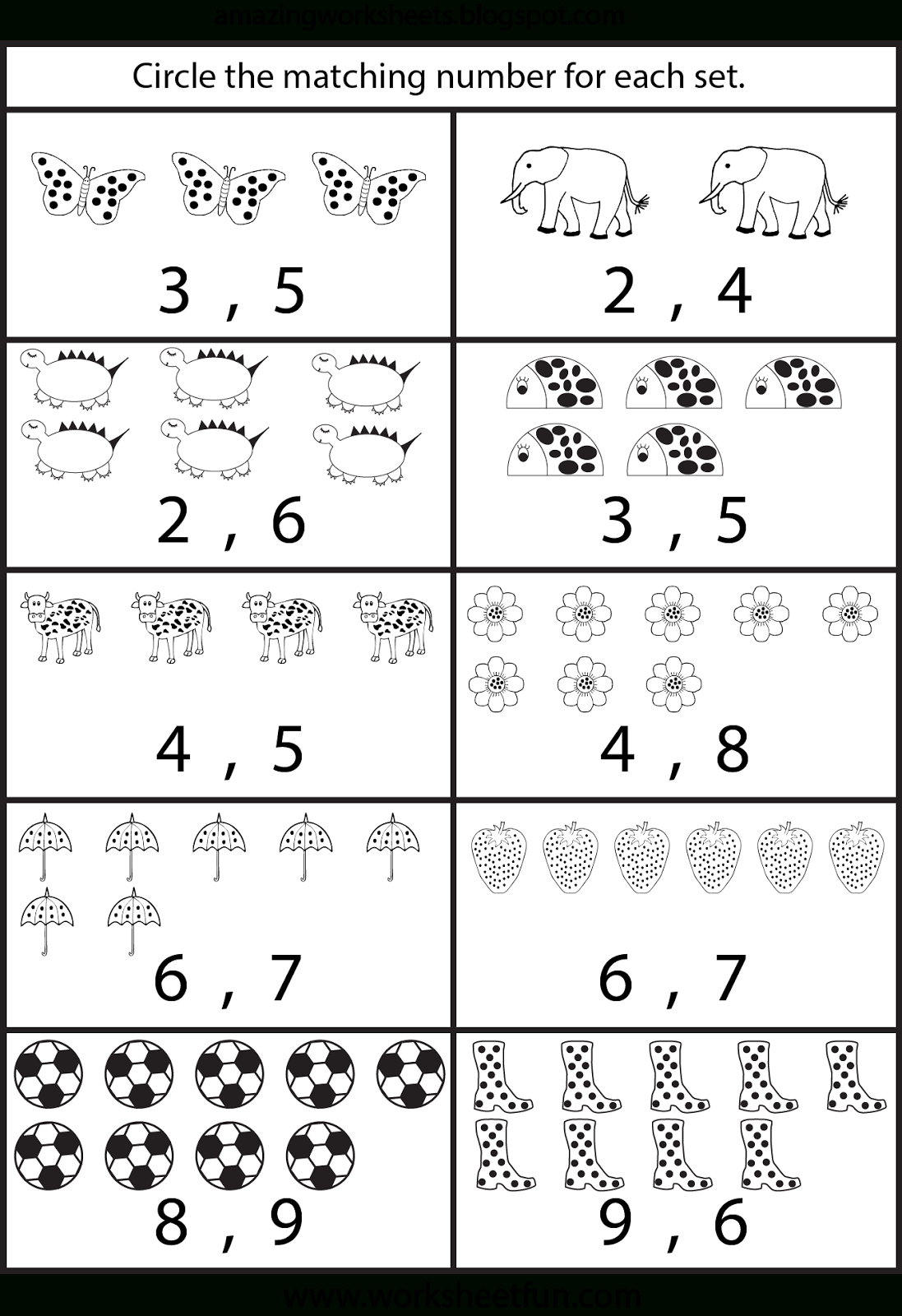 Counting Worksheets For Kindergarten … | Learning | Pinte… - Free Printable Counting Worksheets