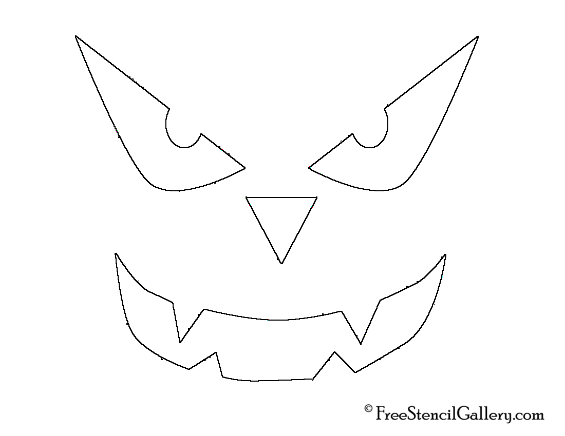 Cozy Design Jack O Lantern Face Templates 21 Free Stencil Gallery - Jack O Lantern Patterns Free Printable