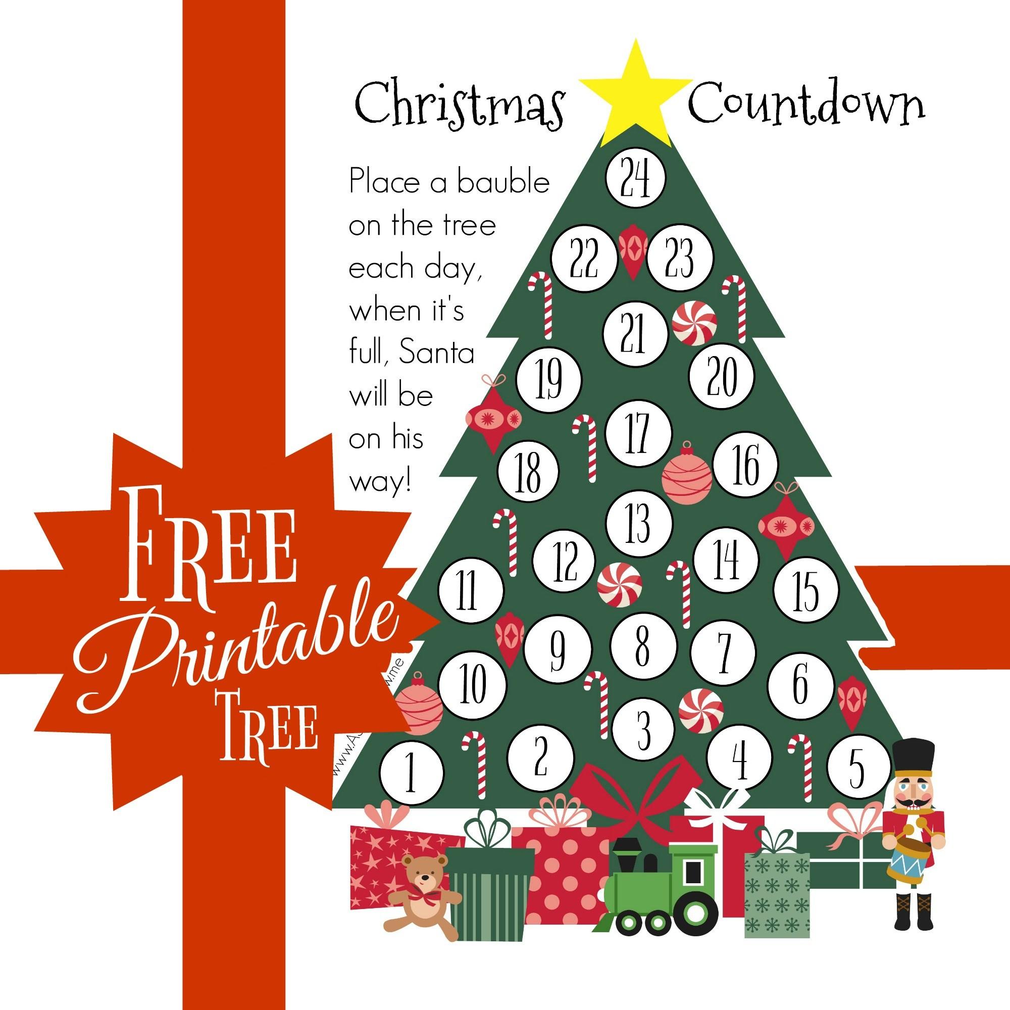 Crafty Christmas Countdown – Free Printable – As They Grow - Christmas Countdown Free Printable