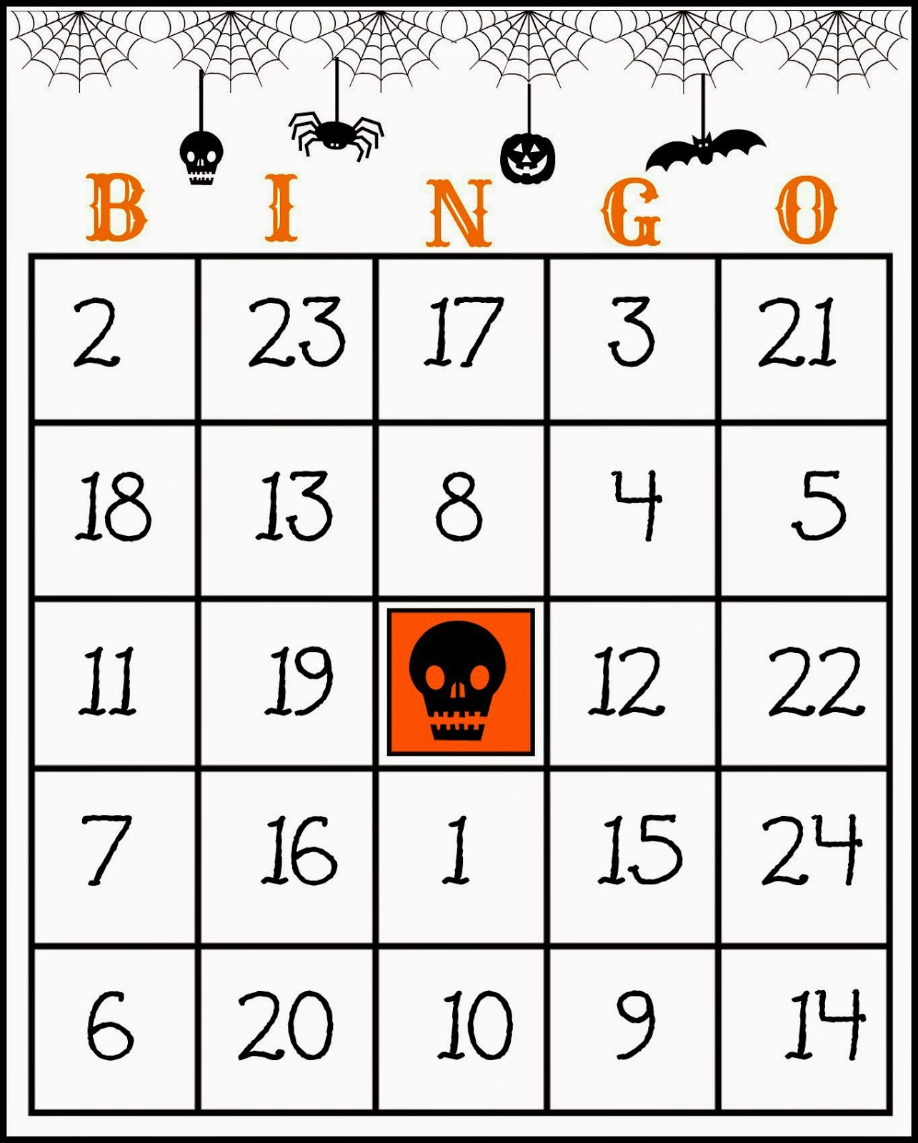 Crafty In Crosby: Free Printable Halloween Bingo Game - Free Printable Bingo Cards And Call Sheet