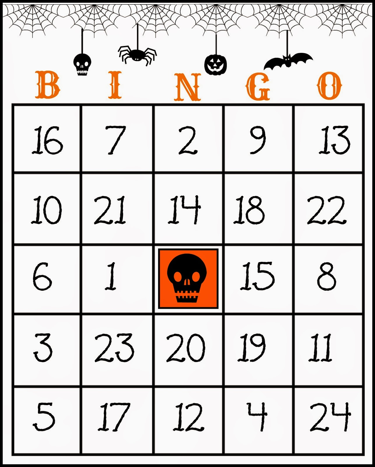 Crafty In Crosby: Free Printable Halloween Bingo Game - Free Printable Bingo Cards With Numbers