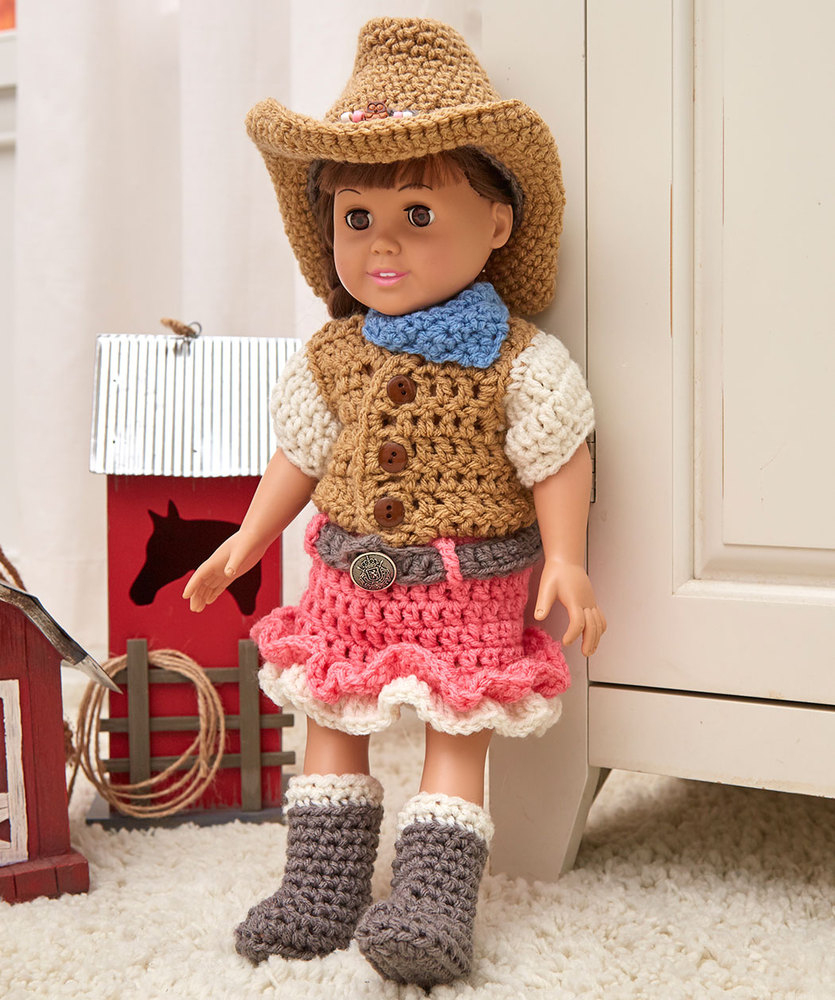 Creative Outfits For 18″ Dolls | Red Heart - Free Printable Crochet Doll Clothes Patterns For 18 Inch Dolls