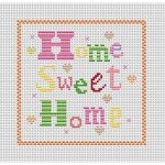 Cross Stitch Patterns Free Printable | Home Sweet Home Free Chart   Needlepoint Patterns Free Printable