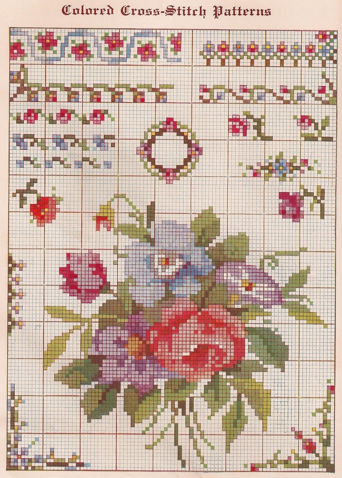 Cross Stitch Patterns Free Printable   Sentimental Baby: Free - Free Printable Cross Stitch Patterns Flowers