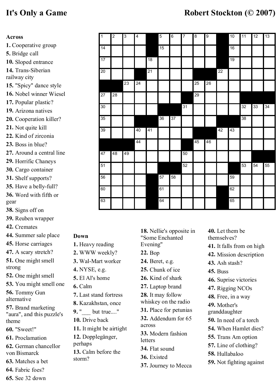 Crossword Puzzle Maker And Printable Crosswords Onlyagame - Free Printable Crossword Puzzle Maker With Answer Key