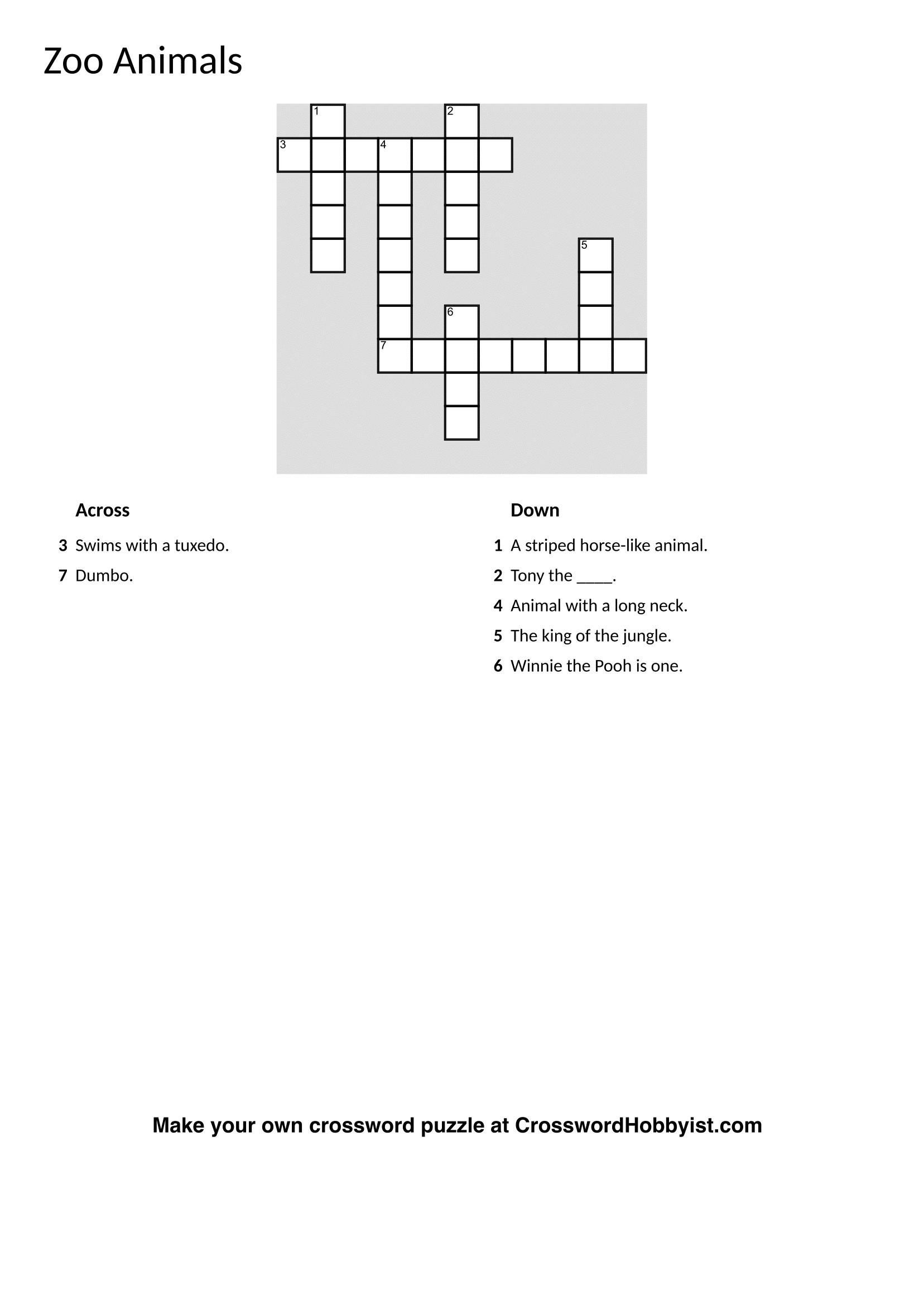 Crossword Puzzle Maker Online Free Printable Crosswords Jigsaw - Jigsaw Puzzle Maker Free Printable