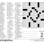 Crossword Puzzle Printable New York Times Crosswords ~ Themarketonholly   Free Printable Ny Times Crossword Puzzles