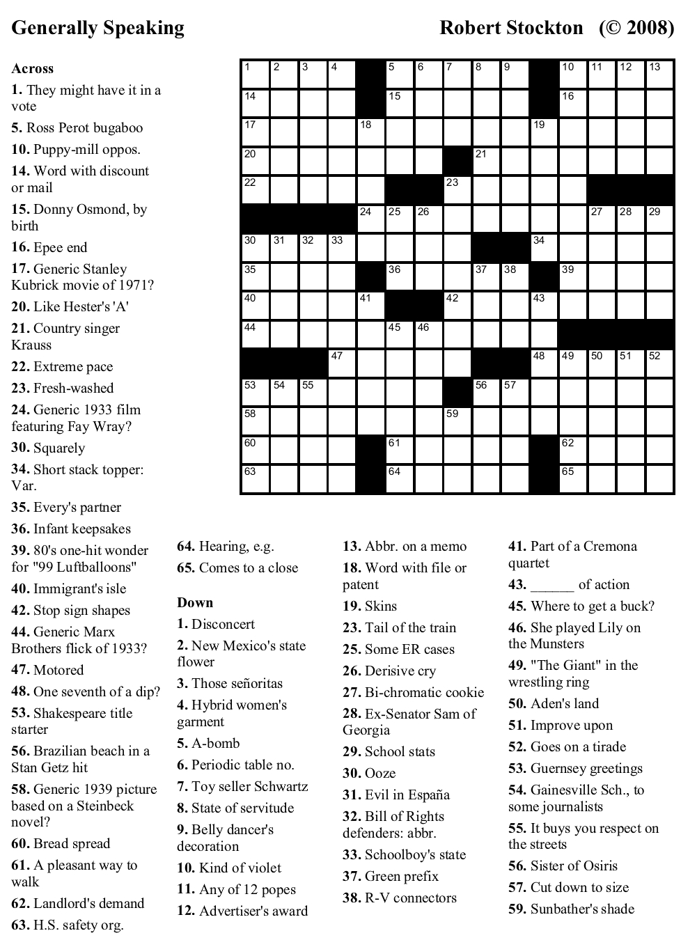 Crossword Puzzles Challenging Printable Crosswords Generallyspeaking - Free Printable Crosswords Medium