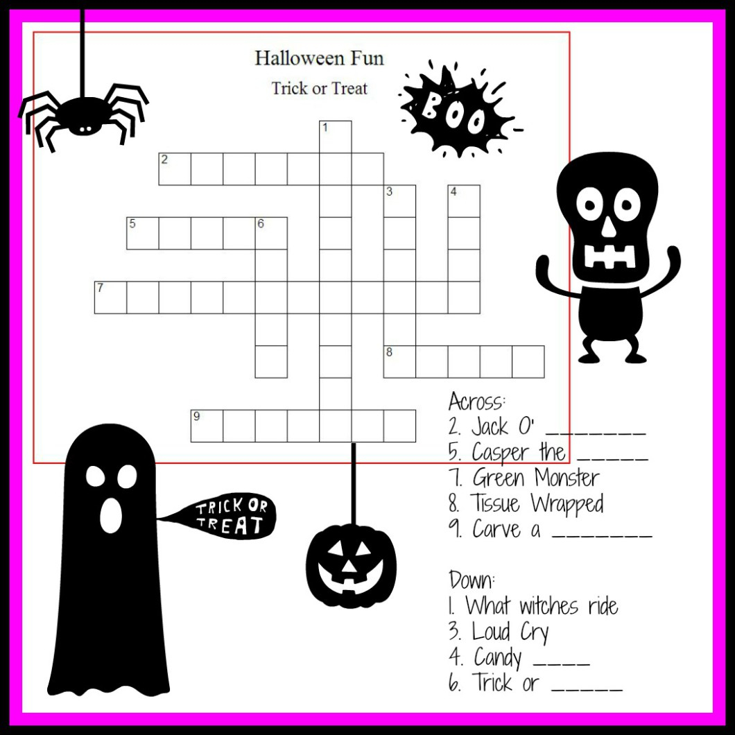 Crossword Puzzles For Tweens Printable Free Halloween 223875 Best - Halloween Crossword Printable Free