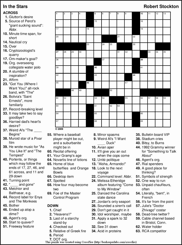 Crosswords To Print Amp Crossword Puzzles Free Line Printable Themed - Free Printable Large Print Crossword Puzzles