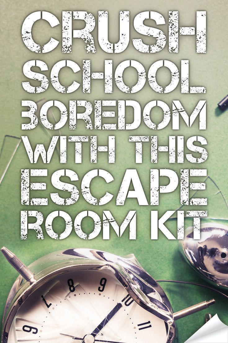 Crush Classroom Boredom With This Hack. | Middle School Language - Printable Escape Room Free