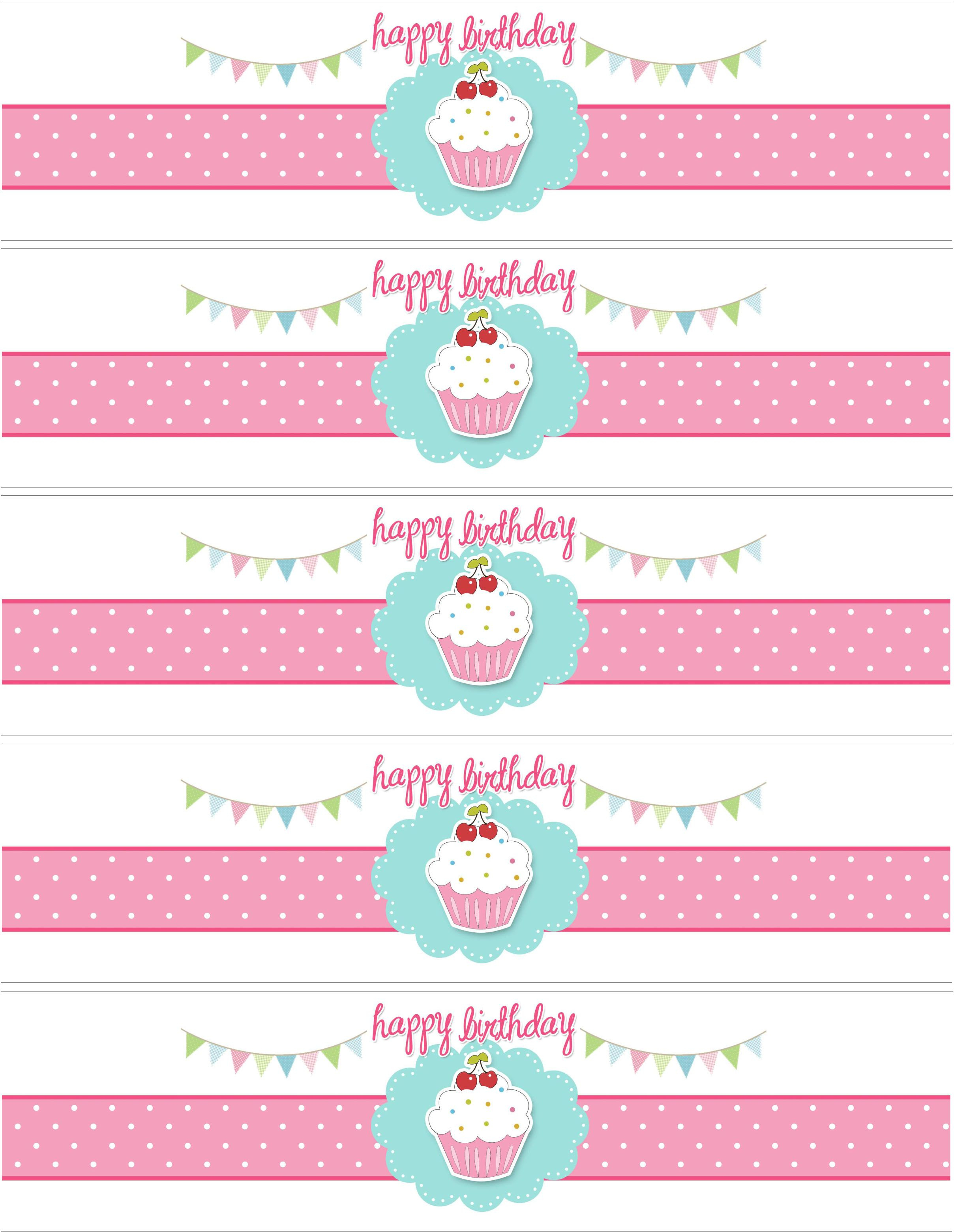 Cupcake Birthday Party With Free Printables | Diy-Free Printables - Free Printable Labels For Bottles