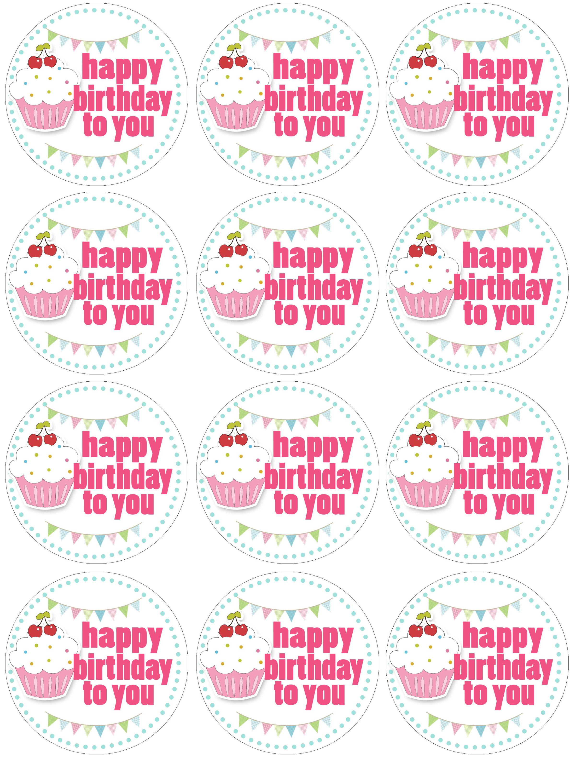 Cupcake Birthday Party With Free Printables   Free Printables - Free Printable Happy Birthday Cake Topper