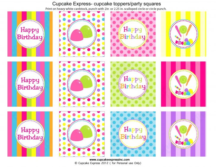 Cupcake Flags Printable Free