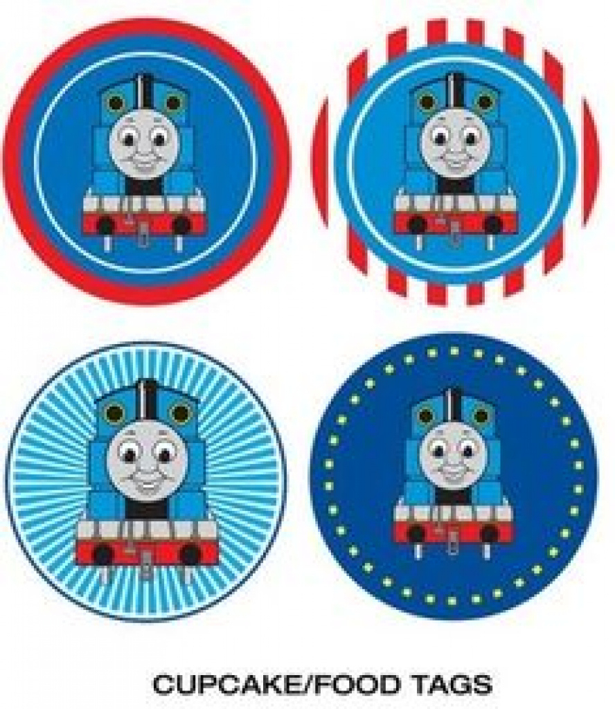 Cupcake Tops Favor Box … | Jace's 3Rd B Day | Pinte… For Free - Free Printable Thomas The Train Cupcake Toppers