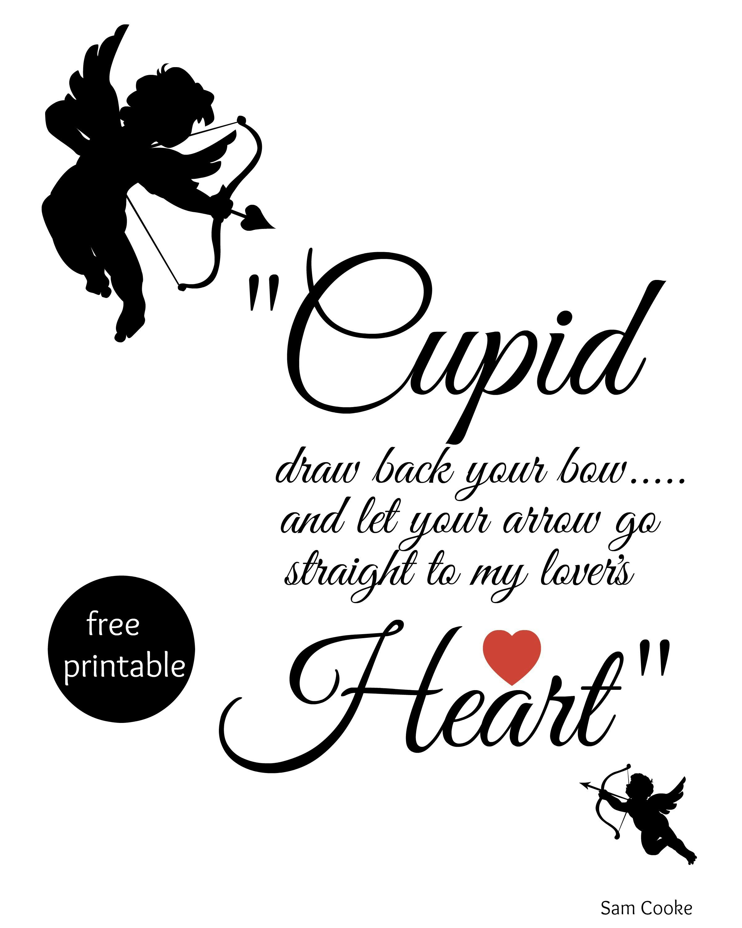 Cupid Draw Back Your Bow | Bloggers' Best Diy Ideas | Pinterest - Free Printable Pictures Of Cupid
