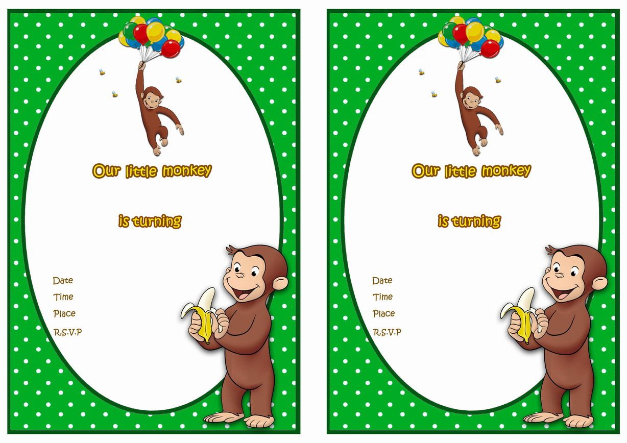 Curious George Free Printable Birthday Party Invitations | Party - Free Printable Curious George Invitations