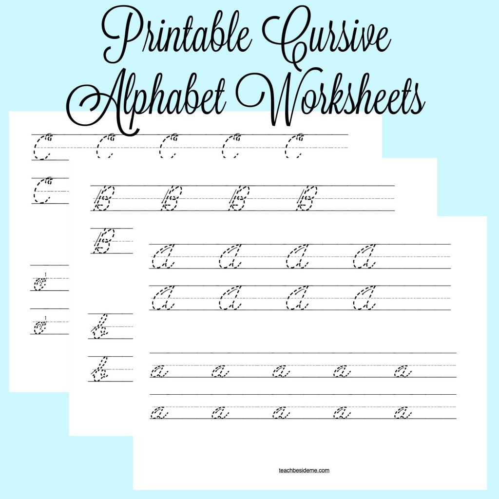Cursive Alphabet Worksheets – Teach Beside Me - Cursive Letters Worksheet Printable Free