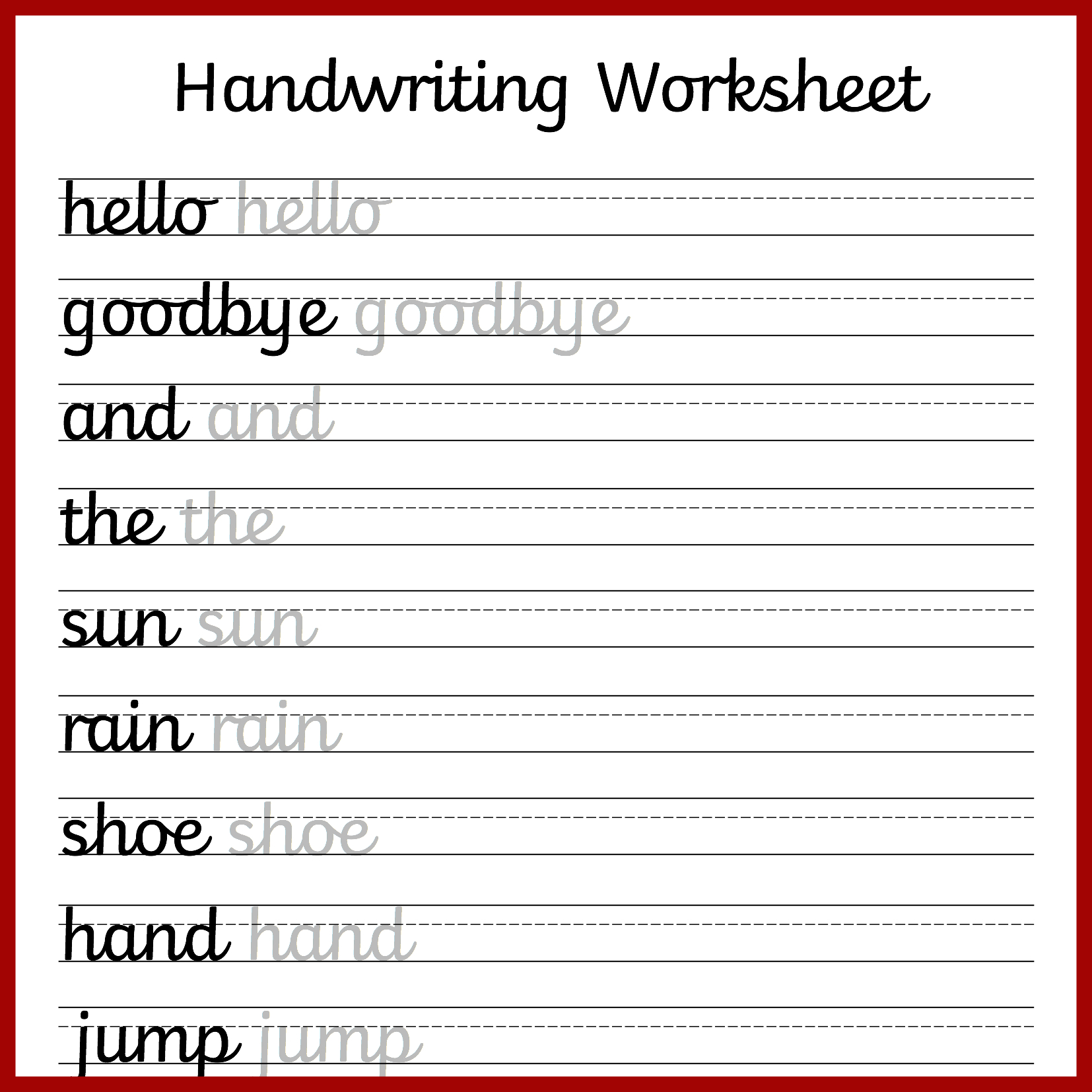 Cursive Handwriting Worksheets – Free Printable! ⋆ Mama Geek - Cursive Letters Worksheet Printable Free
