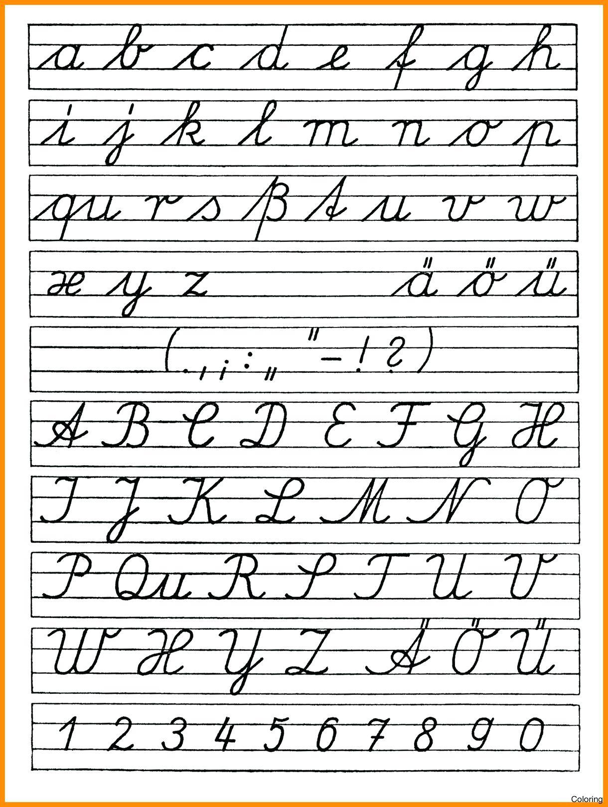 Cursive Letter Worksheet Printables Cursive Letters Worksheet Luxury - Free Printable Cursive Handwriting Worksheets
