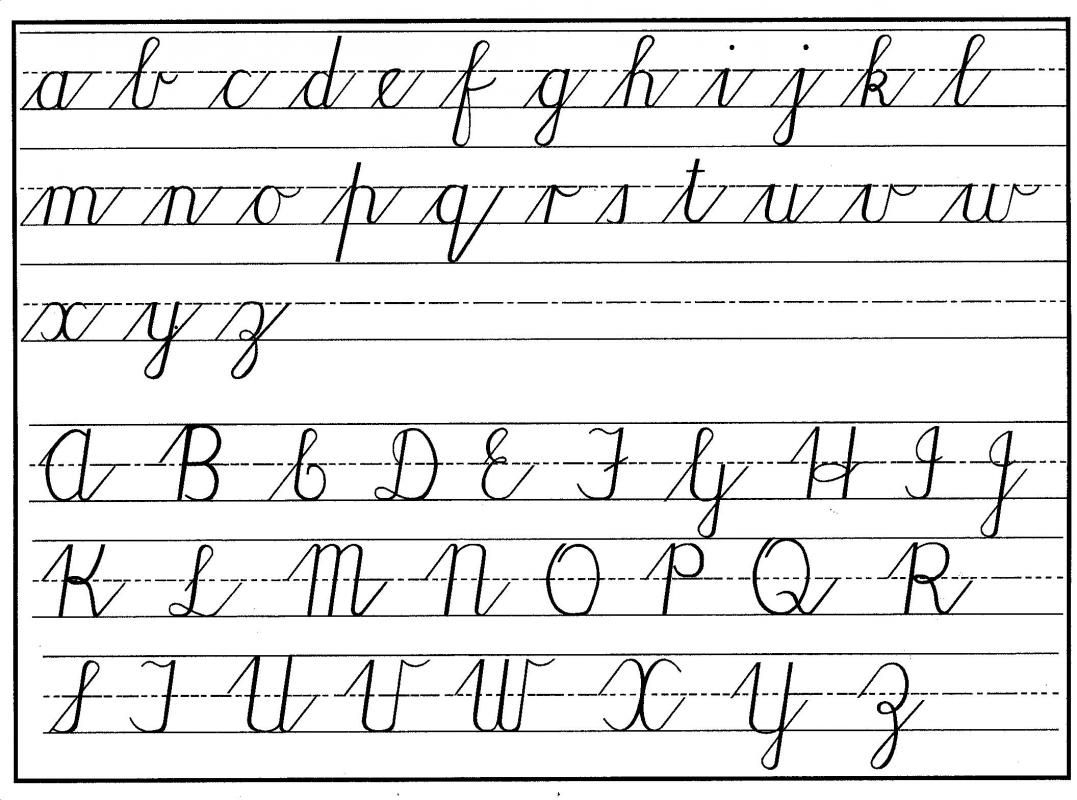 Cursive Writing Template | Template | Teaching Cursive, Handwriting - Free Printable Cursive Alphabet