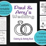Custom Printable Wedding Coloring & Activity Book, Personalized In   Free Printable Personalized Children's Books