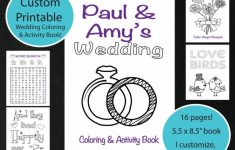 Custom Printable Wedding Coloring & Activity Book, Personalized In – Free Printable Personalized Children's Books