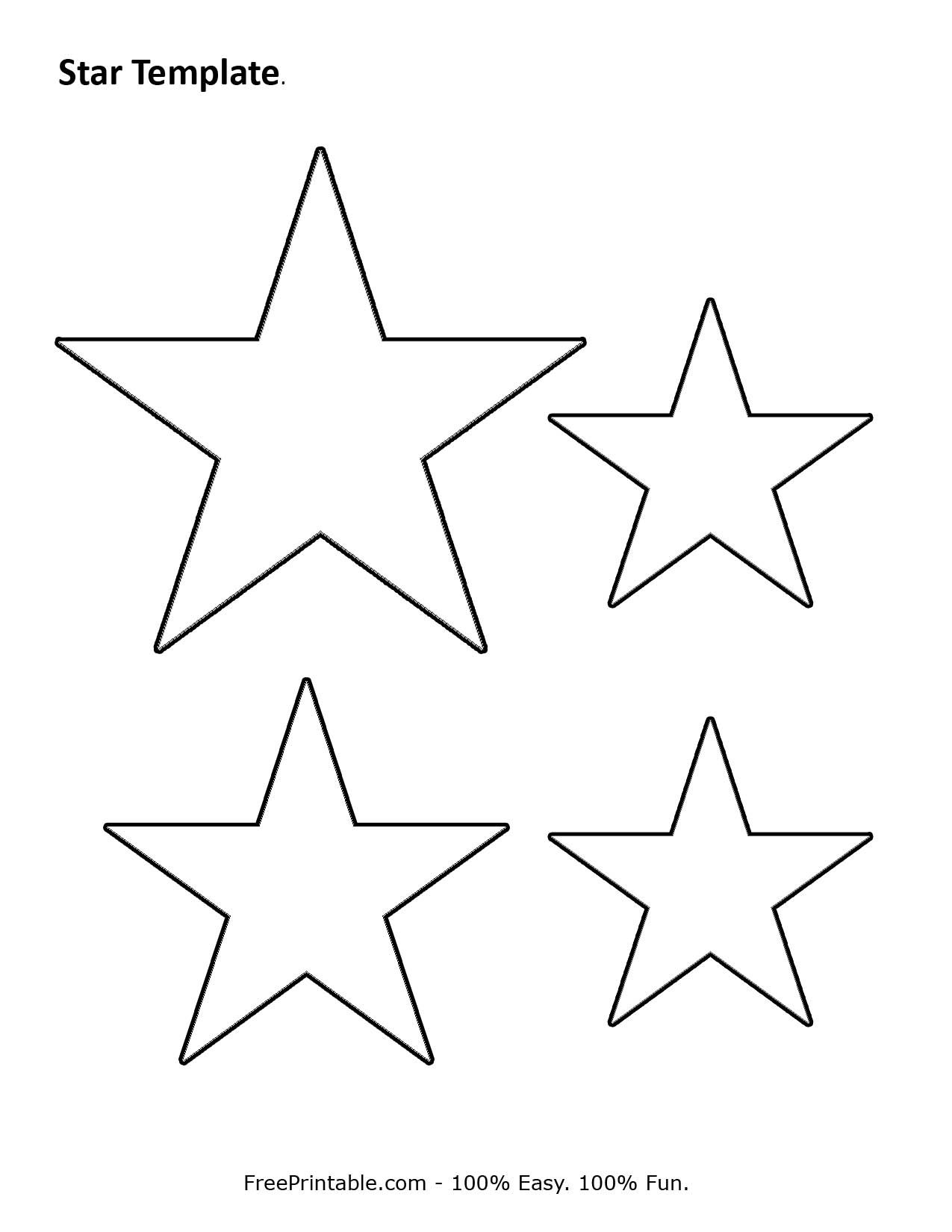 Customize Your Free Printable Star Template | Stencil | Pinterest - Free Printable Stars